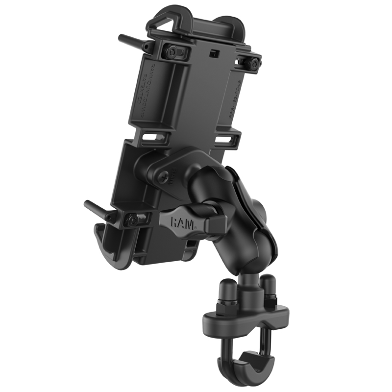 RAM® Quick-Grip™ XL Phone Mount with Handlebar U-Bolt Base